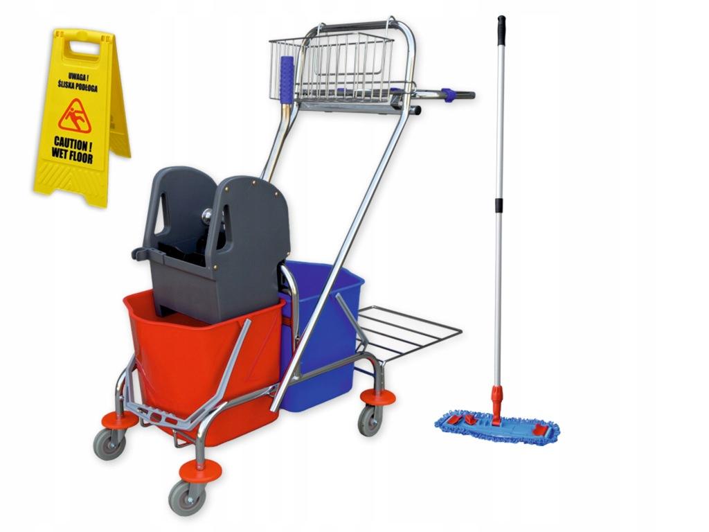 Zestaw wózek do sprzątania S6 mop potykacz