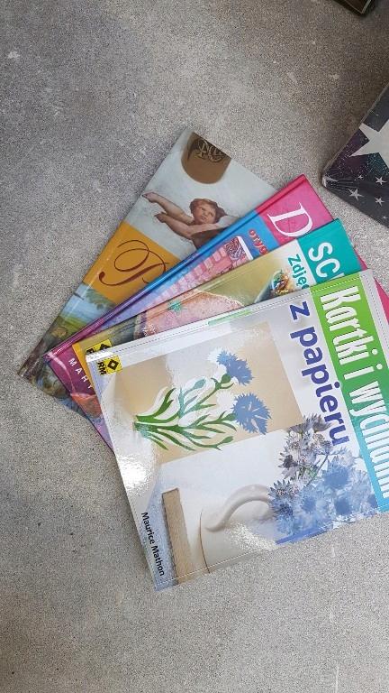 zestaw książek do scrapbookingu i decoupage