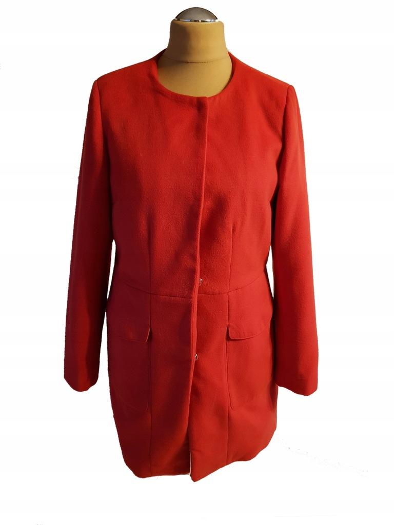 RESERVED-flauszowy płaszcz przejściowy 42