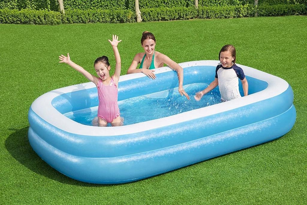 Bestway basen rodzinny niebiesko-biały 262cm 54006