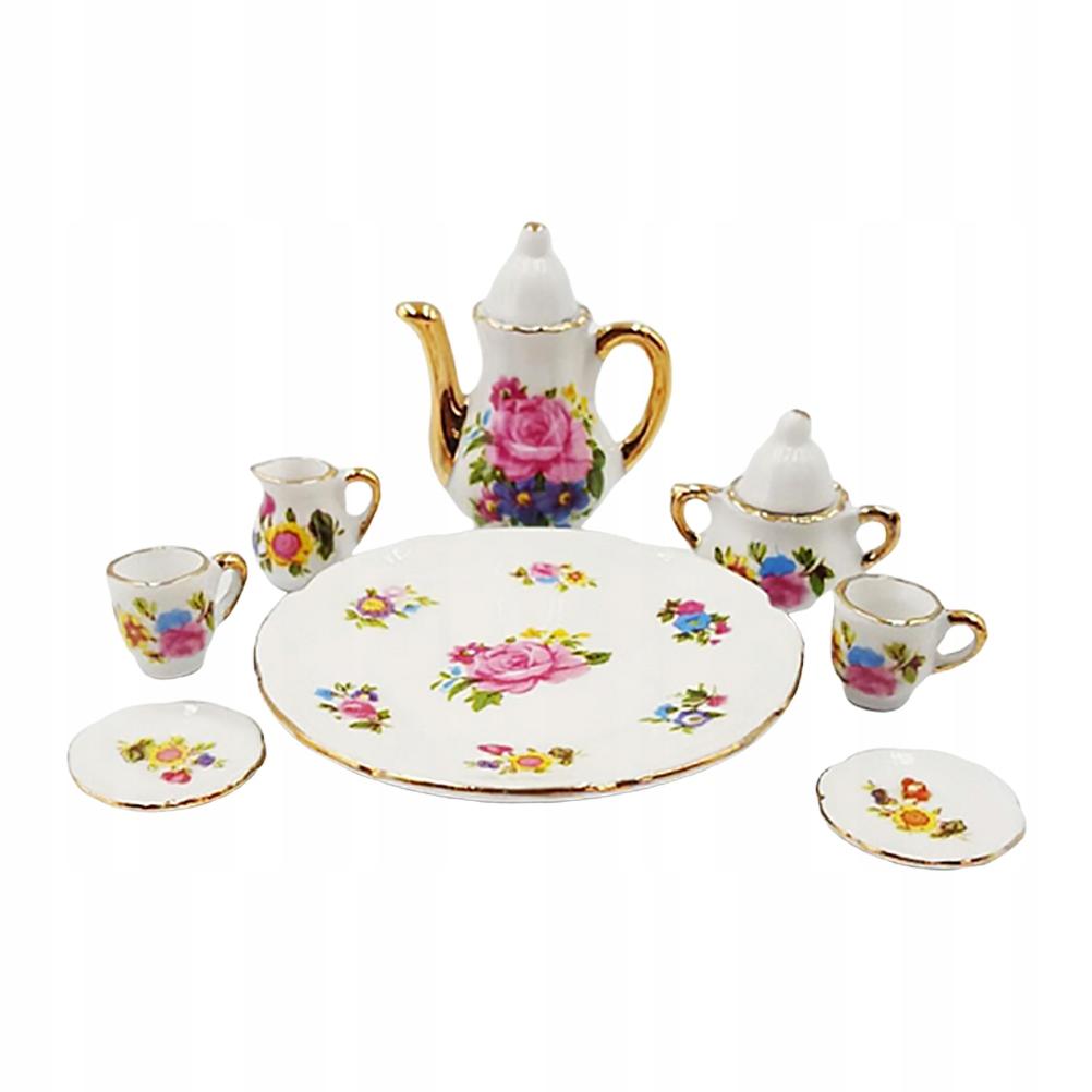 8 sztuk ceramiczny mini dom zestaw do herbaty mini