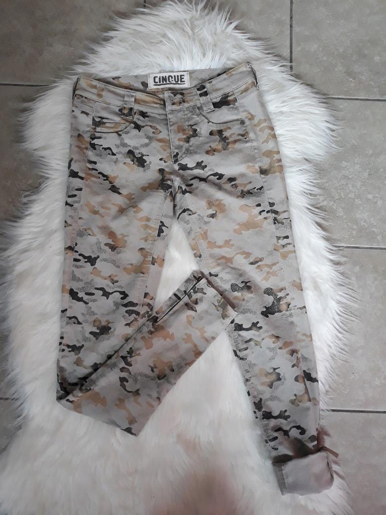 Spodnie damskie rurki moro 32