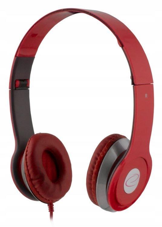 ESPERANZA Słuchawki audio TECHNO czerwone