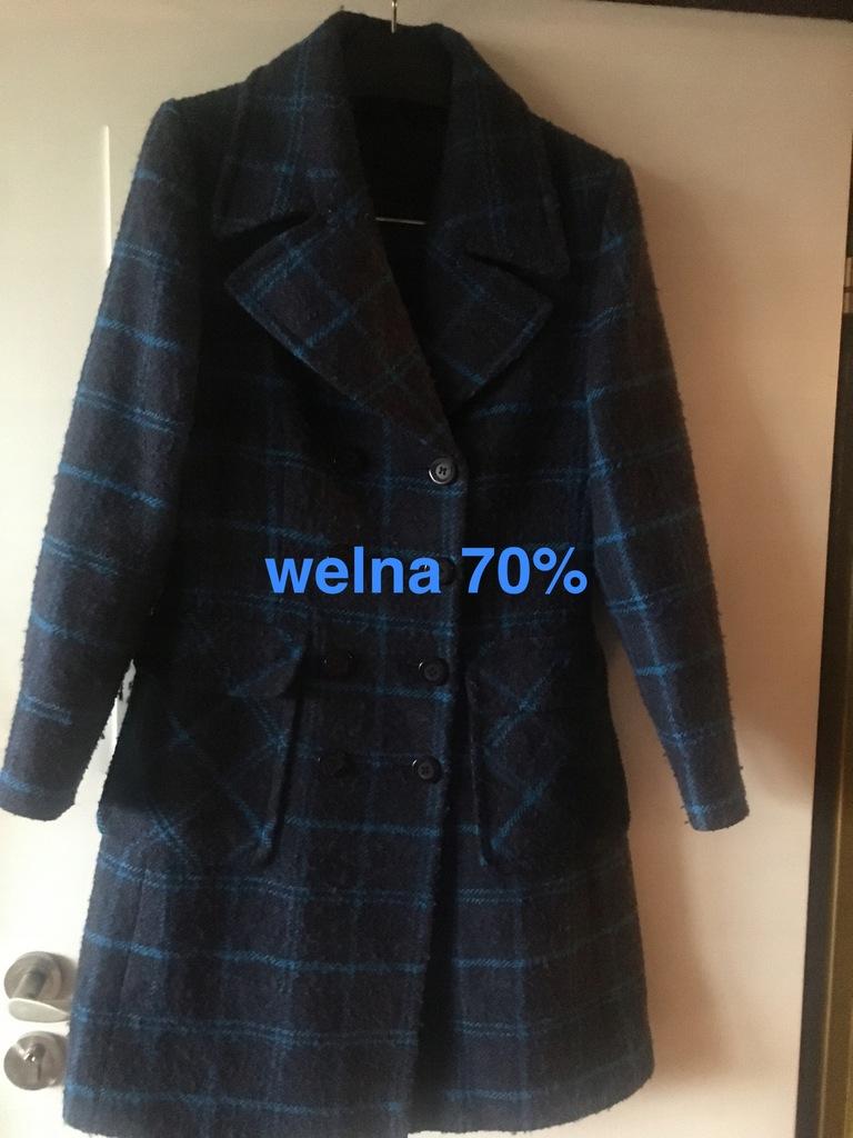 Next nowy plaszcz 70% welna cieply 38/40/42 BCM