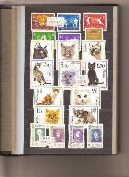 POLSKA - klaser znaczków.
