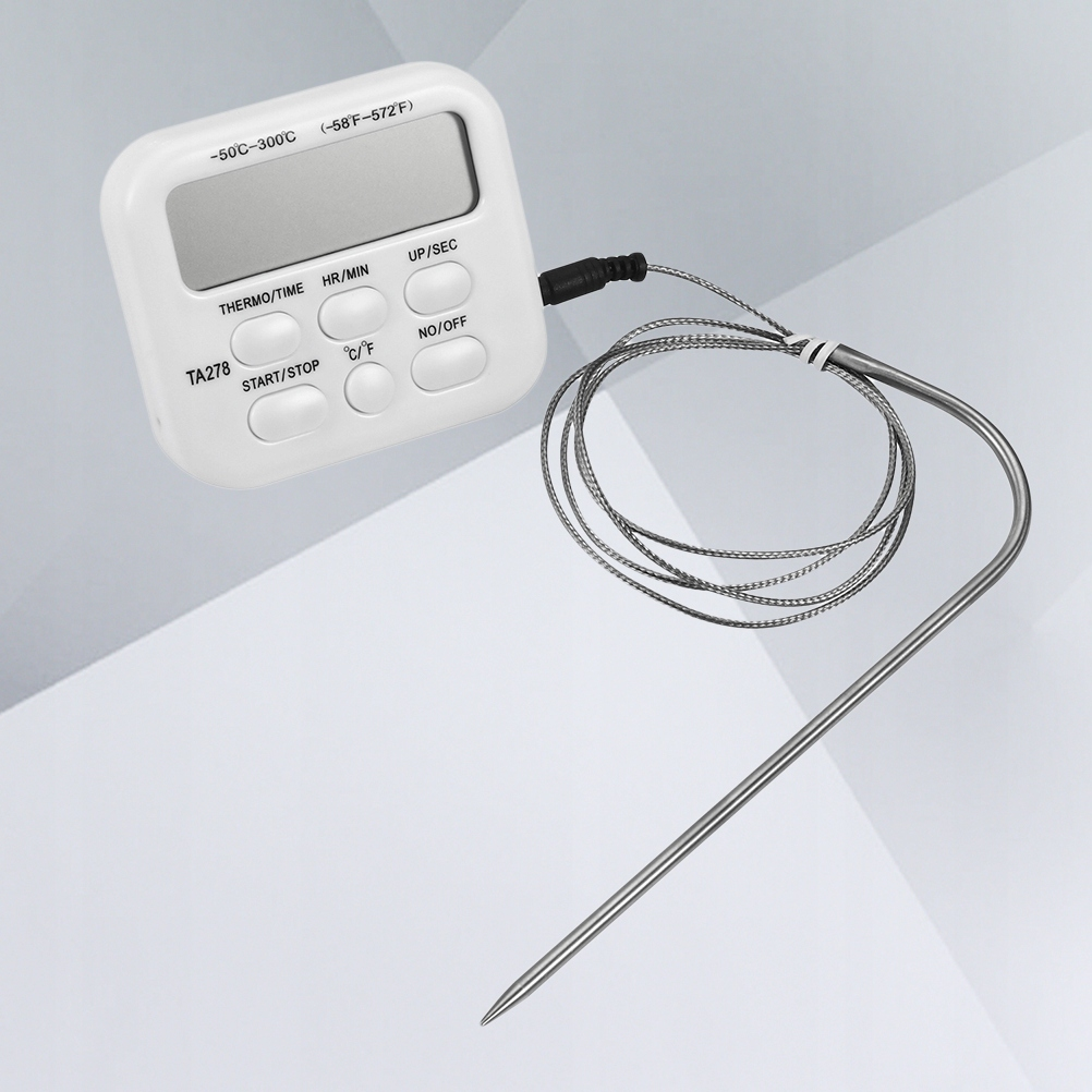 TA278 Digital Meat Thermometer Stainless Probe Wir