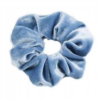 Gumka Do Włosów Frotka Niebieska Welur
