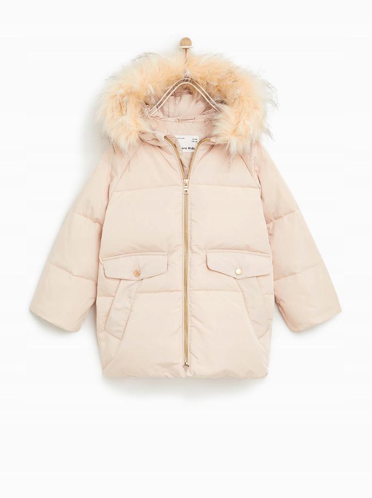 zara puchowa pikowana kurtka zimowa parka 134