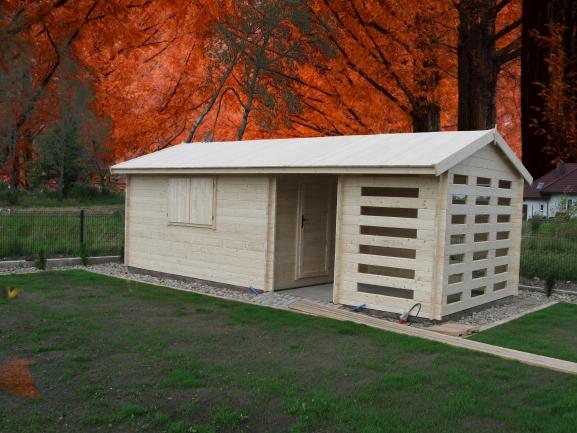 Domek drewniany drewutnia altanka