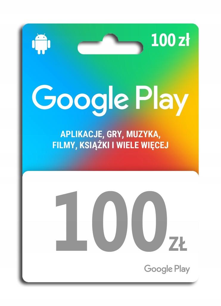 Kod Doładowanie Pre Paid Karta Google Play 100 zł