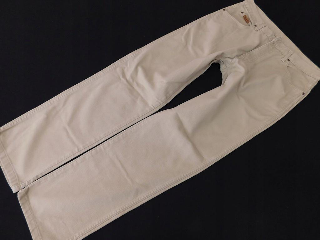 0206d11 WRANGLER spodnie MĘSKIE beżowe 34/32
