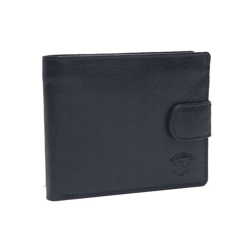 Skórzany męski portfel Meltoni z etui