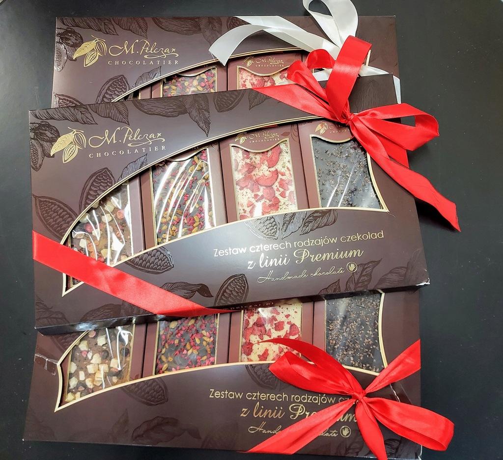 Zestaw 4 czekolady z linii Premium M. Pelczar
