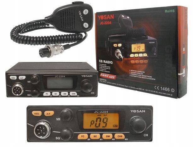 CB RADIO YOSAN JC-2204 TURBO + ANTENA SIRIO