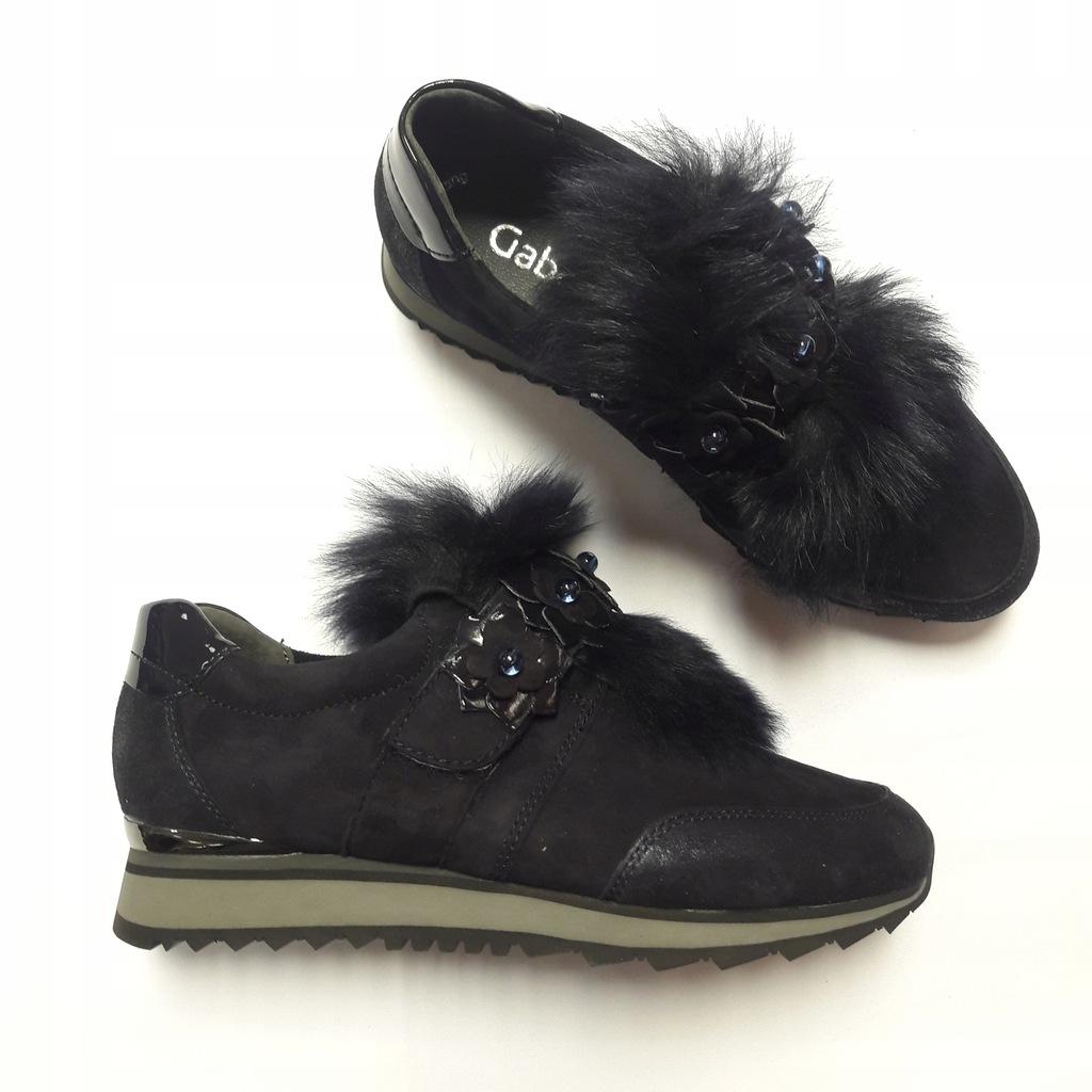 Skórzane sneakersy półbuty GABOR r. 35,5 40% gran