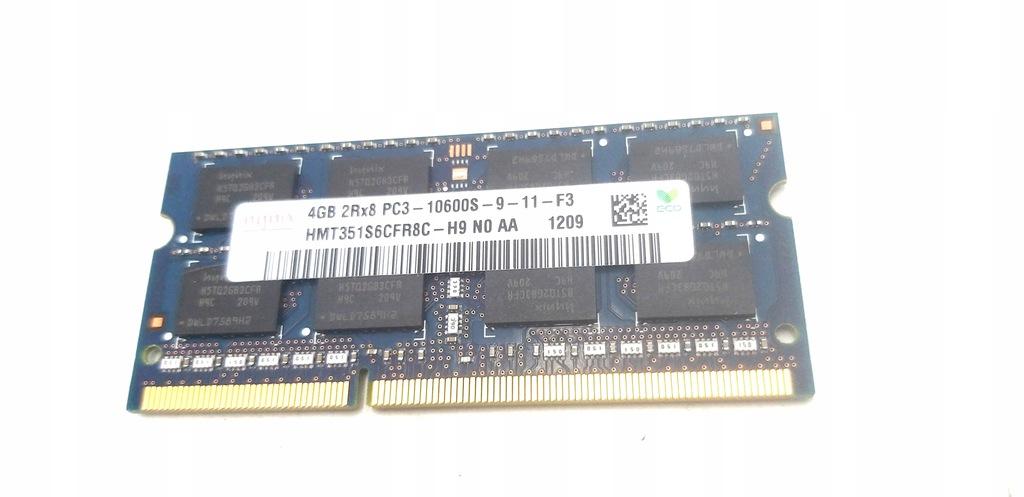 PAMIEĆ RAM DDR3 HYNIX 4GB 2RX8 PC3-10600S-9-11-F3