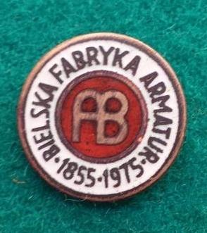 Odznaka-Bielska Fabryka Armatur 120 lat 1975r.