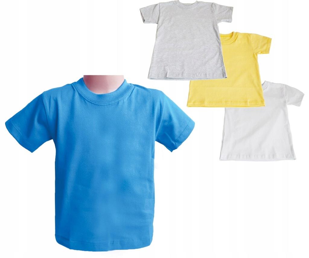 Koszulka T-SHIRT - WF gruba bawełna 3 SZTUKI 104