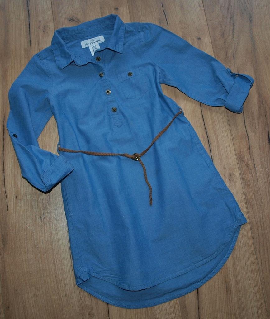H&M podpinana tunika koszulowa pasek IDEAŁ 128
