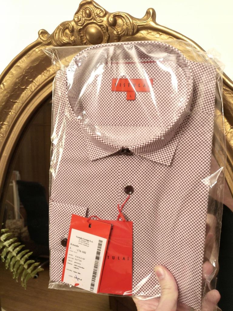 Fabor Koszula regular fit męska krótki rekaw