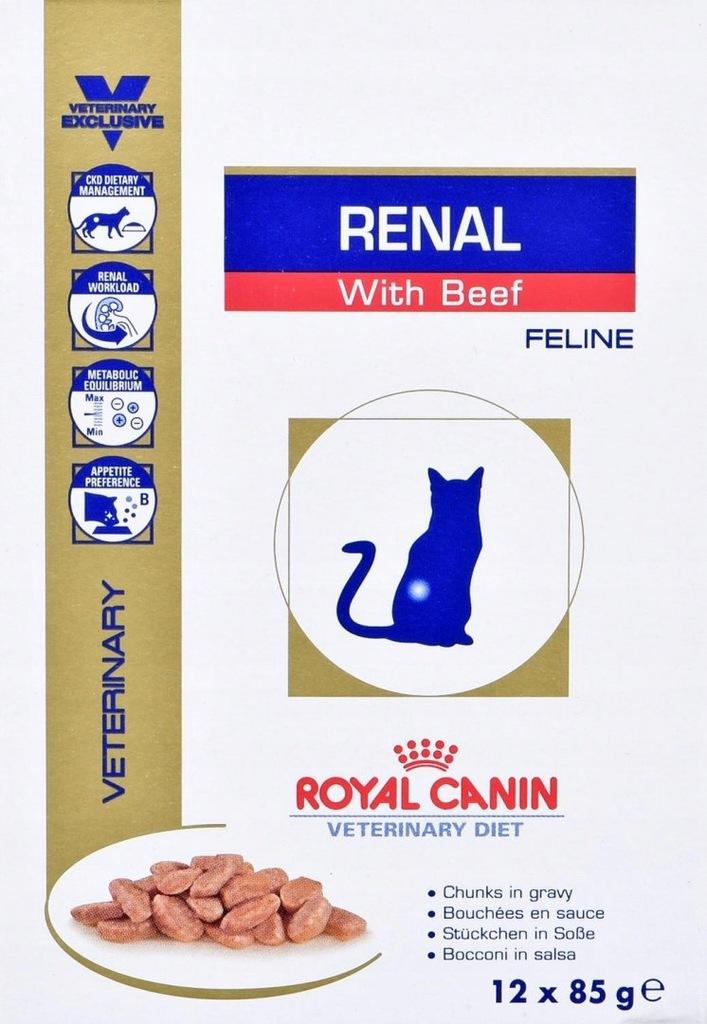 Royal Canin VD Cat Renal Beef 12 szt. x 85g