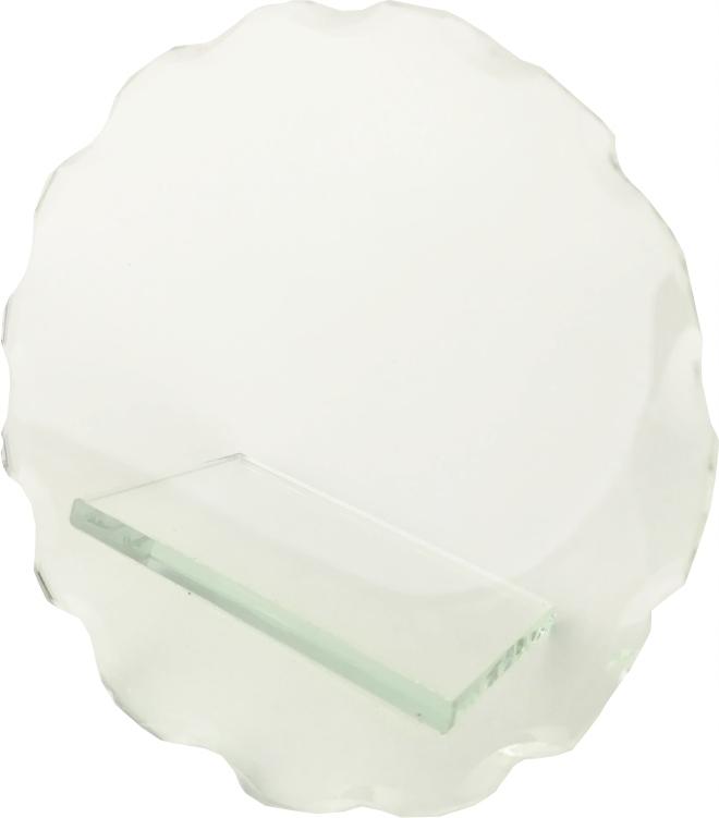 Statuetka Puchar Szklana Bezbarwna Okrągła