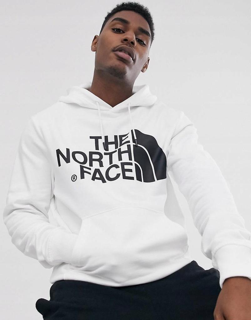 D5H502*THE NORTH FACE BLUZA MĘSKA BIAŁA LOGO M F01