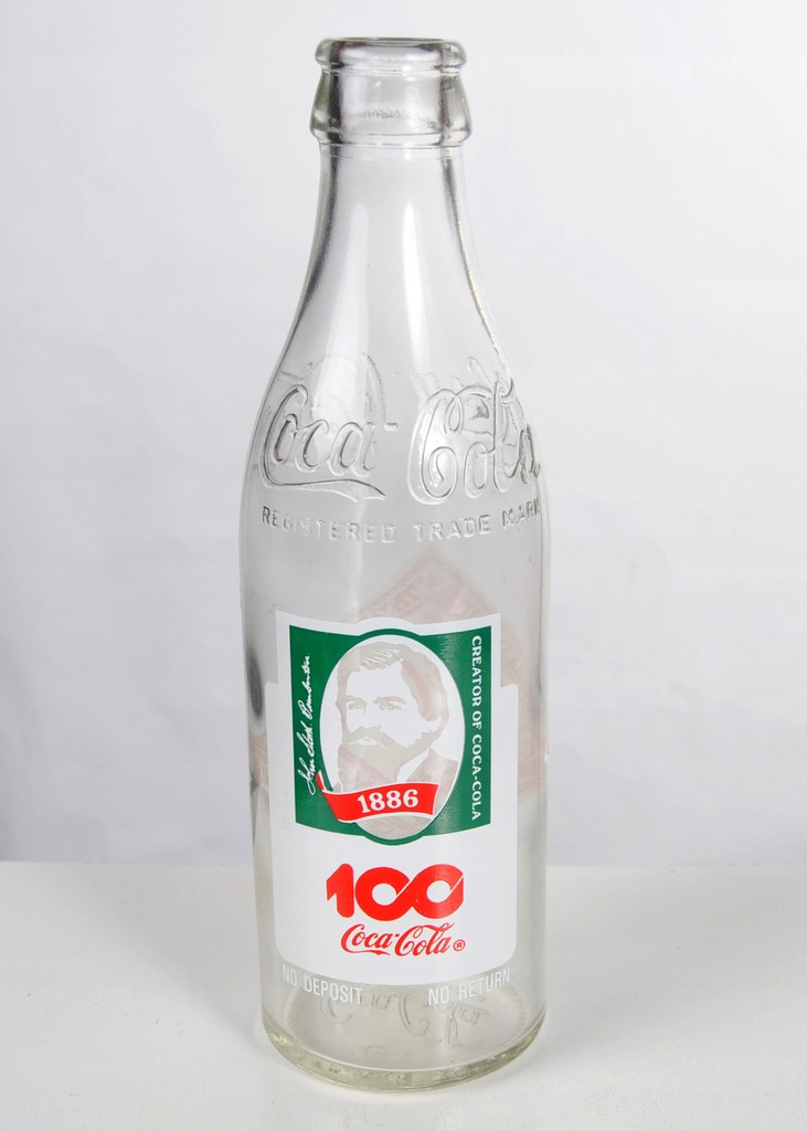 Butelka Szklana Coca Cola 100 Lecie 296 Ml 8090283848 Oficjalne Archiwum Allegro