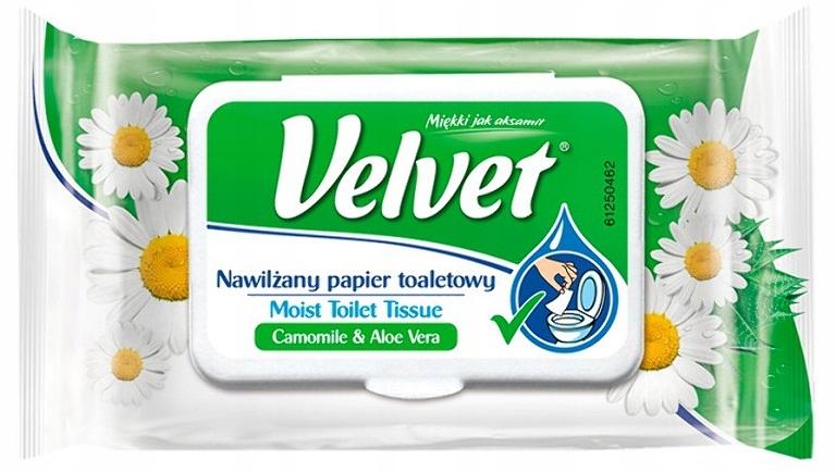 Velvet Rumiankowy Nawilżany Papier Toaletowy 42szt