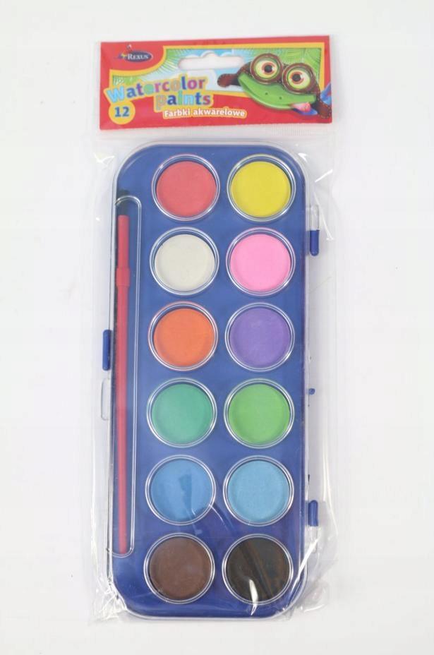 Farbki farby akwarelowe 12 kolorów