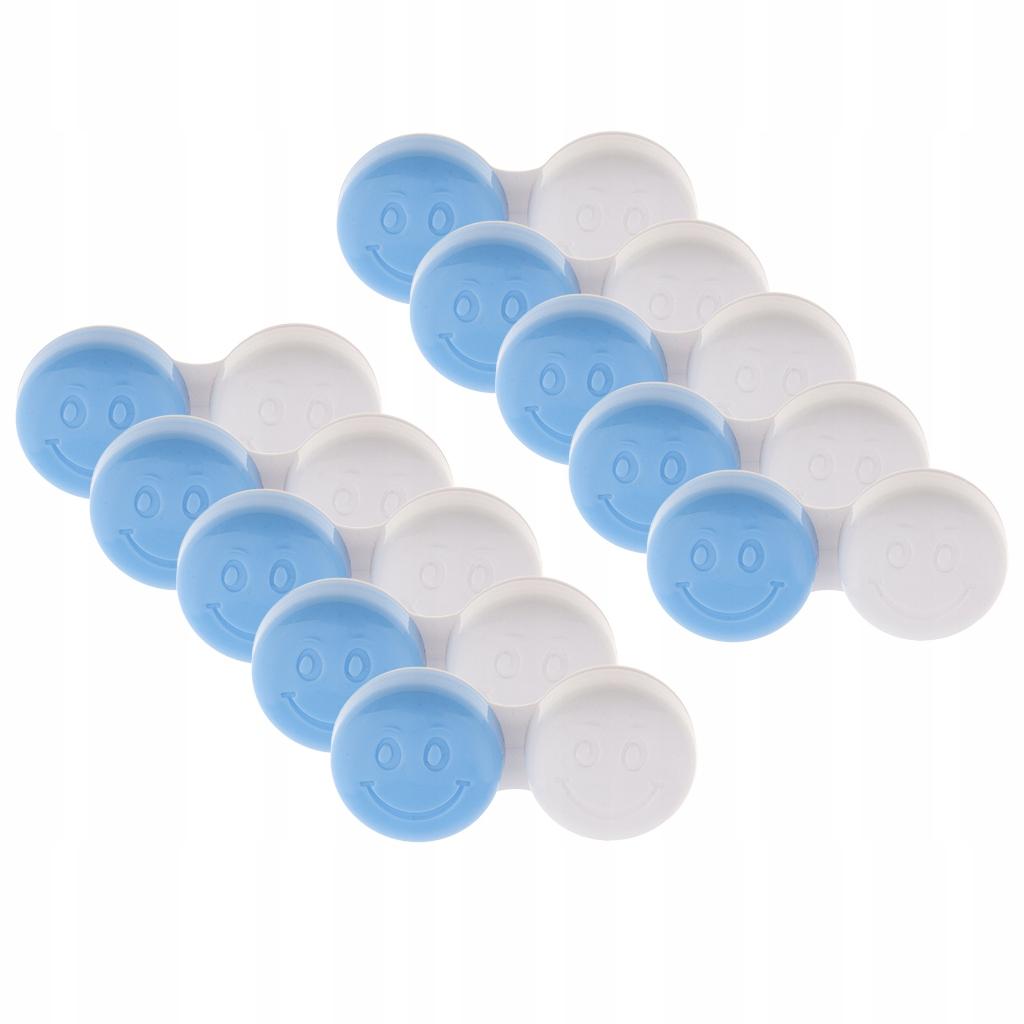 10 sztuk Etui na soczewki kontaktowe - niebieski