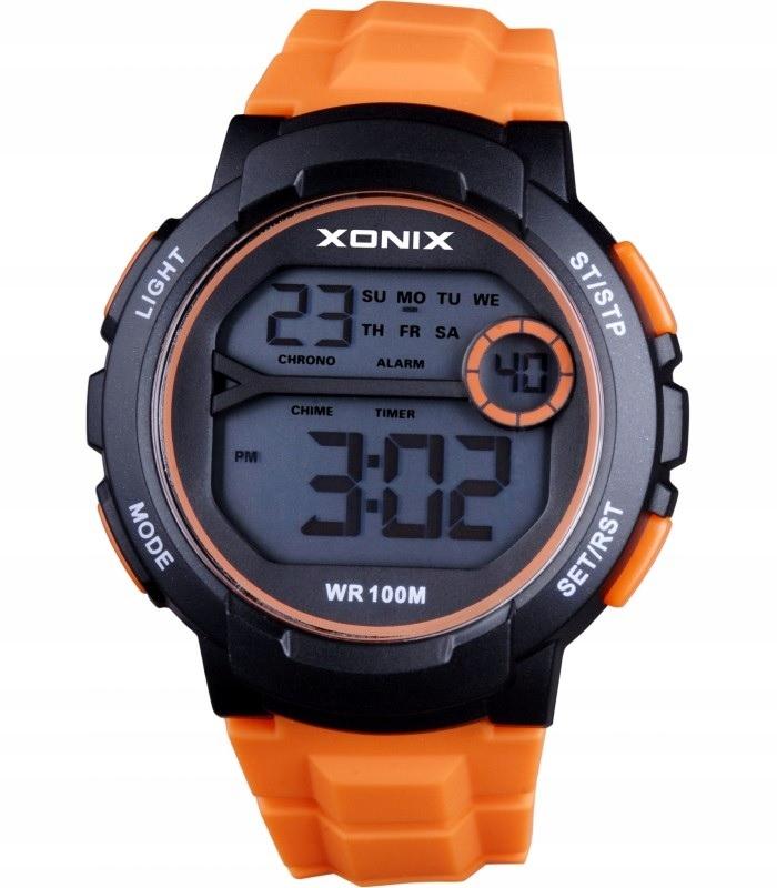 Zegarek Xonix WR100 pomarańczowy chłopięcy Komunia