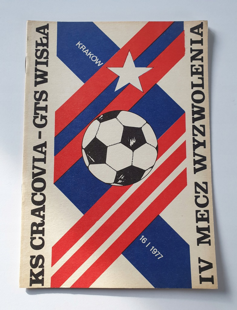 PROGRAM IV MECZ WYZWOLENIA WISŁA - CRACOVIA 1977