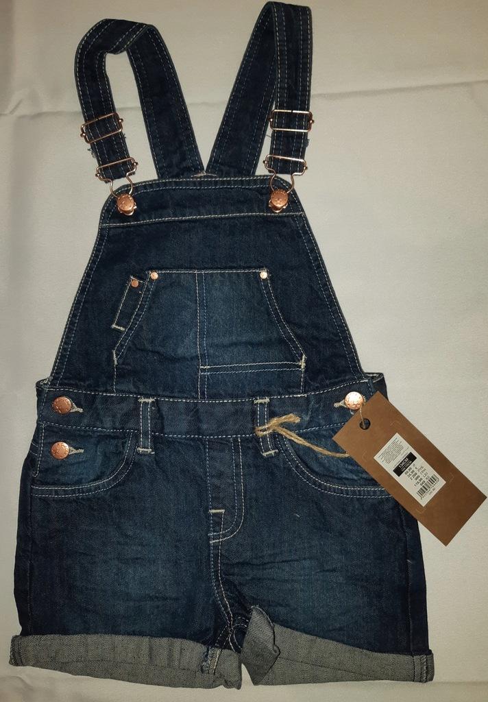 Spodnie ogrodniczki jeansowe cool club r.134 NOWE!
