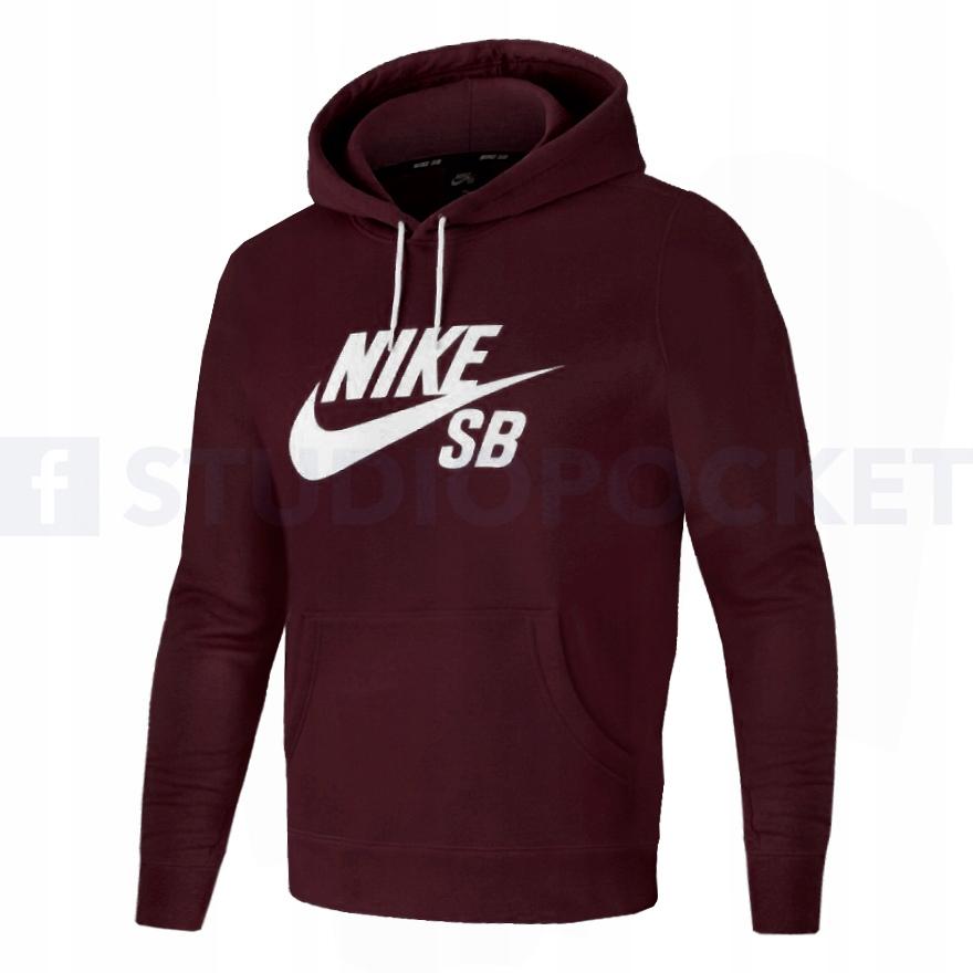 Nike bluza SB Icon kangurka bordowa JA9733 652 S