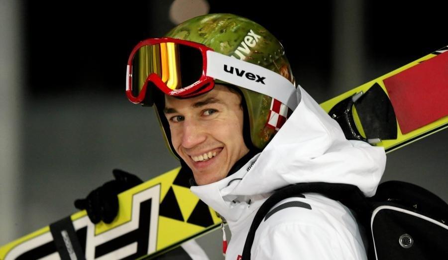 Kamil Stoch Kask Uvex P1us z autografem