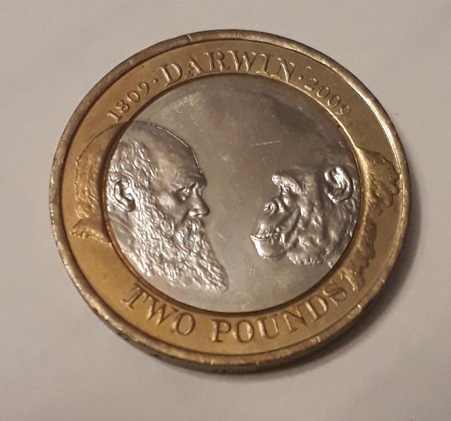 2 funty brytysjkie Darwin 2009 r.