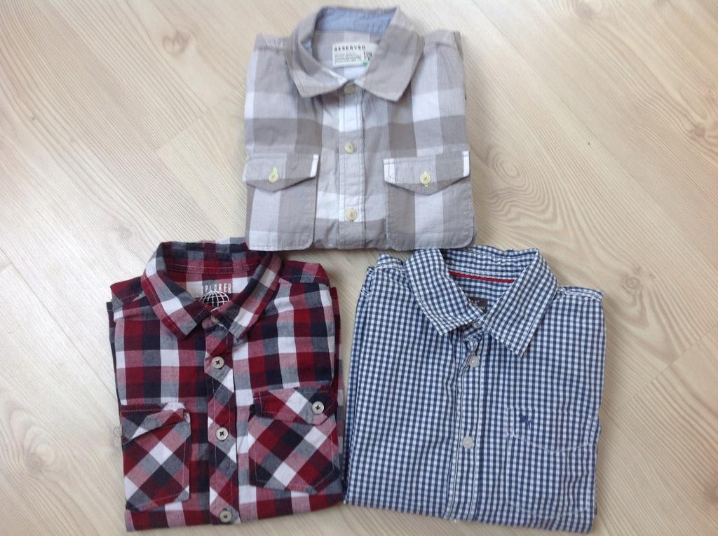 H&M Re Kids Koszula chłopięca x 3 rozm 128 7978045870
