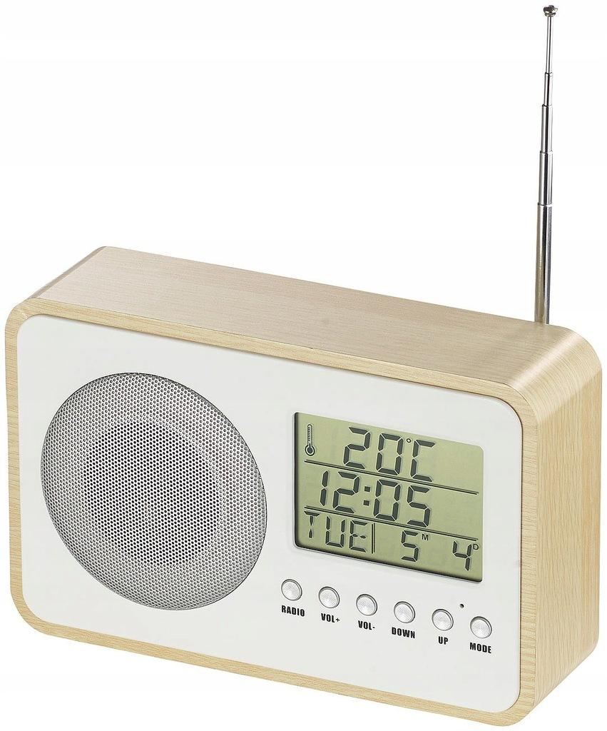 03 auvisio radiobudzik zasilaczem sieciowym beżowy