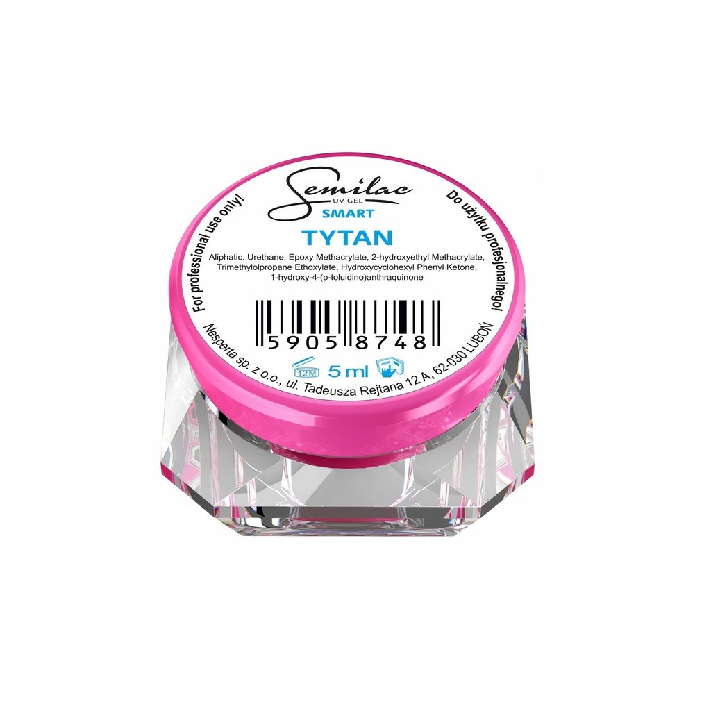 Semilac Lakier żelowy jednofazowy Smart Tytan 5ml