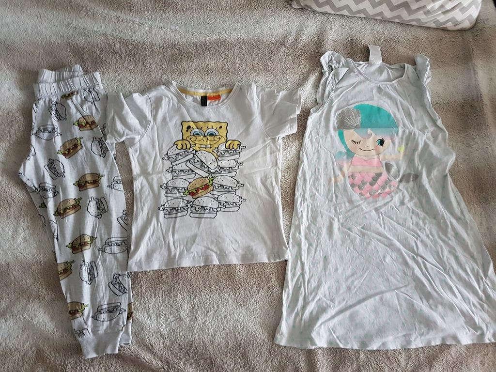 Piżamy dziewczęce H&M RESERVED r. 134-140