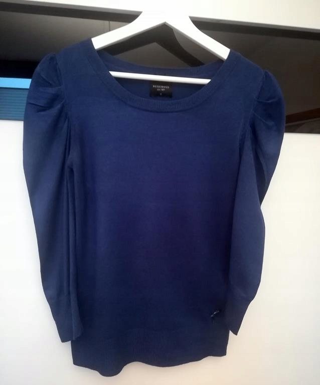 Sweter granatowy Reserved r. S 36