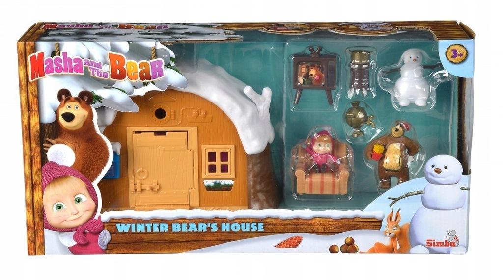 Zestaw figurek Masza i Niedźwiedź - Zimowy Domek N