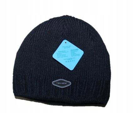Zimowa ciepła czapka chłopięca Granatowa i276 7711569884