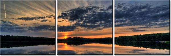Odbicie zachodzącego słońca 150x50cm