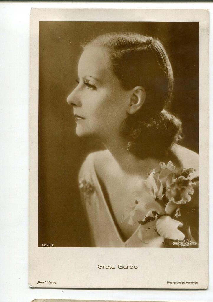 Greta Garbo Kino Film Aktorka Foto Pocztówka 55