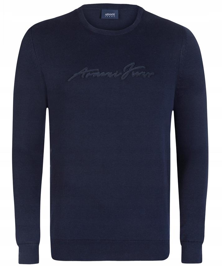 Armani Jeans sweter męski Navy 078