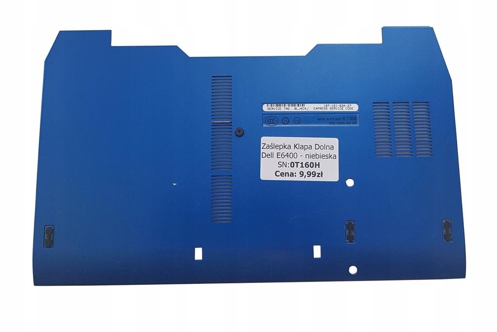 Zaślepka Klapa Dolna Dell E6400 - niebieska