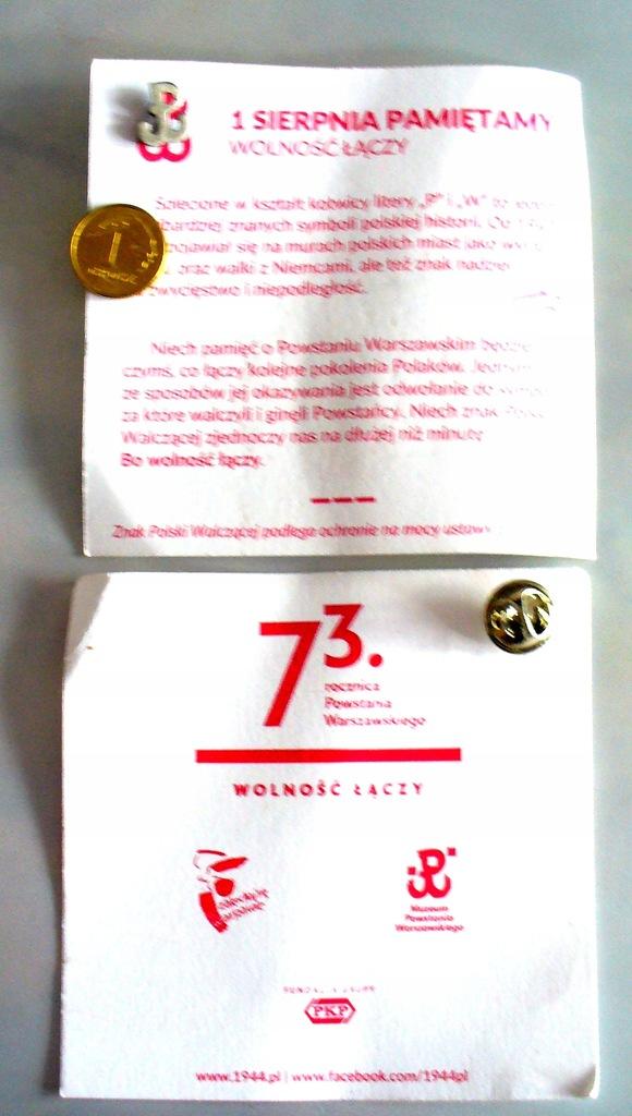 Powstanie Warszawskie Kotwica 73 rocznica