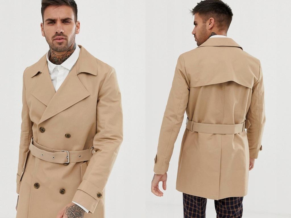 Dwurzędowy płaszcz z wodoodpornej tkaniny S